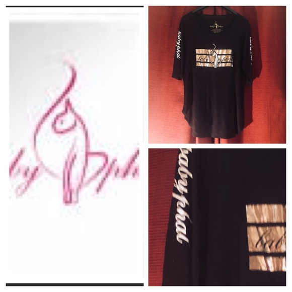 Baby Phat Tops New Without Tags Black Baby Phat Gold Symbol Poshmark
